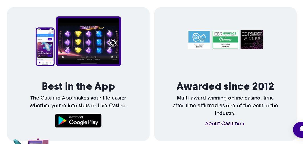 Casumo Casino Mobile App