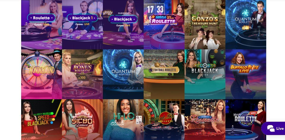 Crypto Casinos Live Games
