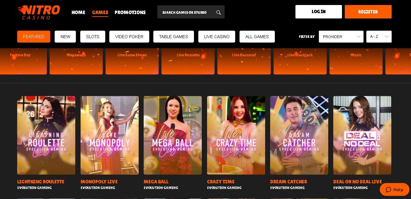 Nitro Live Casino